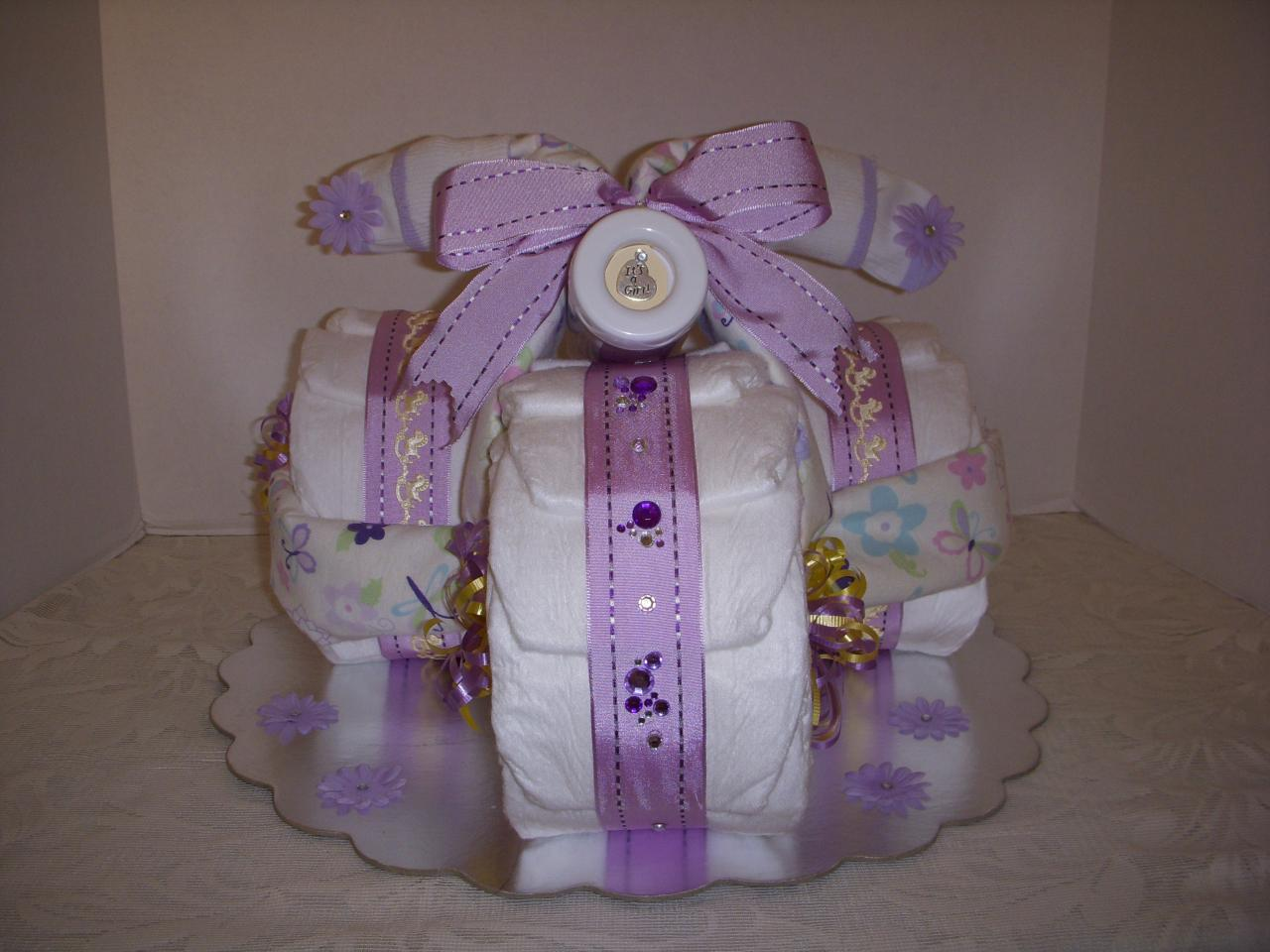 diaper cake tricycle how to make